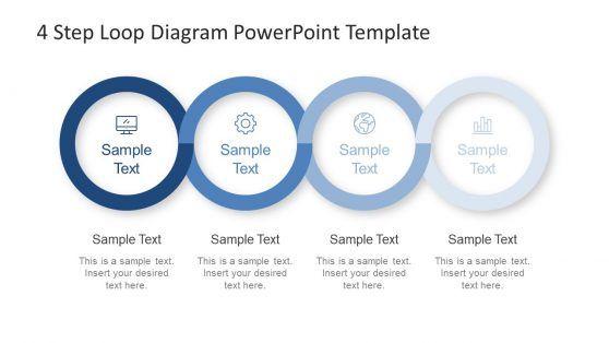4 Step Loop Diagram Powerpoint Template