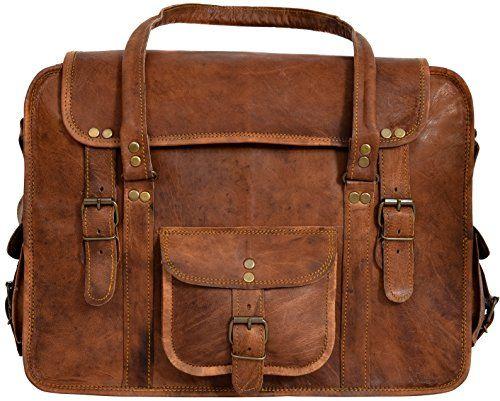 "Gusti Leder nature ""Charles"" Genuine Leather Travel Luggage Weekend Holdall Smart Business Trip Large Vintage Bag Unisex Brown Laptop 13,3'' R40b"
