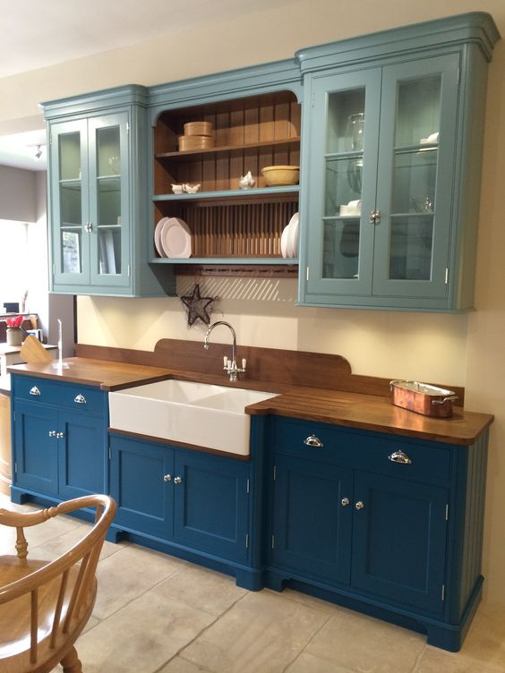 Teal kitchen cabinets, Teal kitchen and Kitchen cabinets on Pinterest