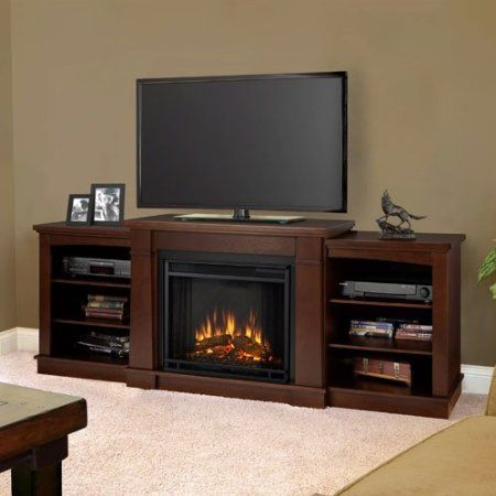 Real Flame Hawthorne Electric Fireplace Tv Stand In Dark Espresso Home Kitchen