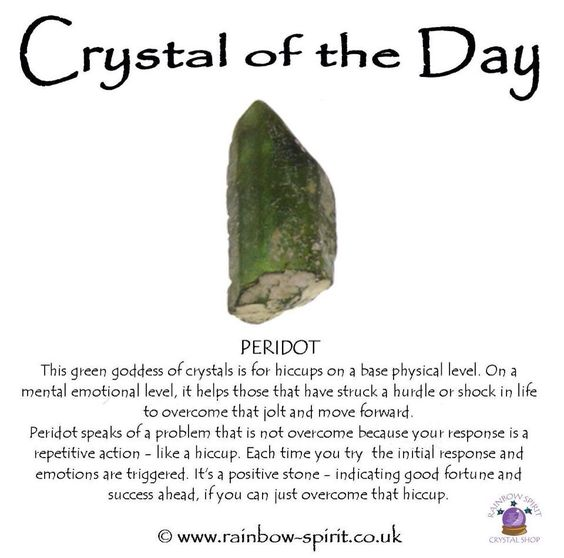 Crystal healing properties of Peridot