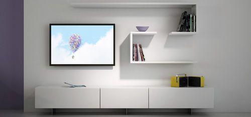 Contemporary TV wall unit SCHMIDT