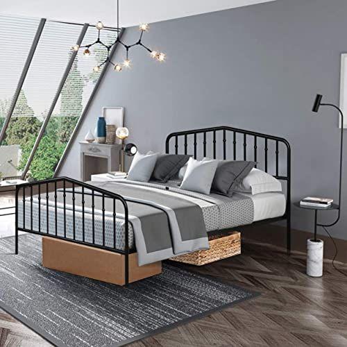 New Giantex Metal Bed Frame Queen Size Metal Bed Platform Vintage