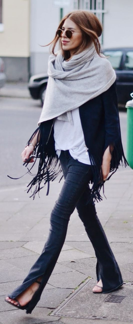 Split Bottom Pants Outfit Idea by MAJA WYH