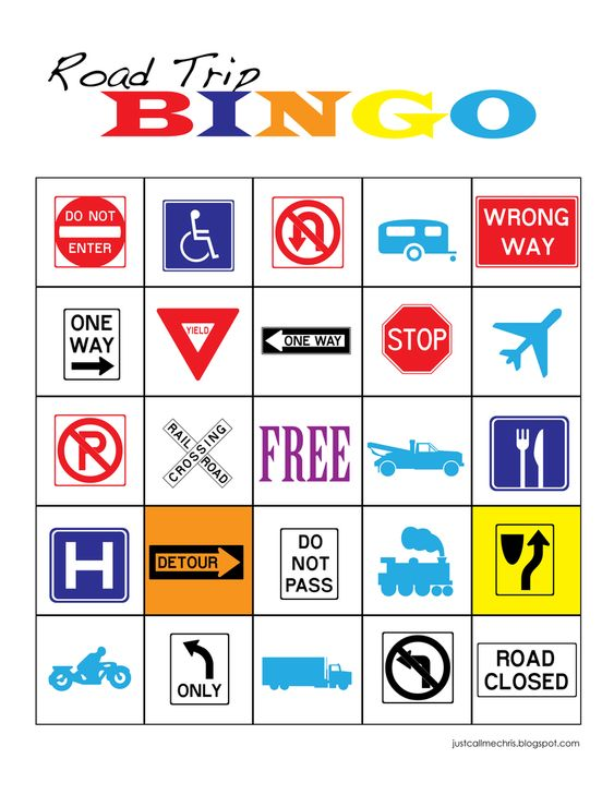 roadtrip bingo - Totally making something like this for our next trip