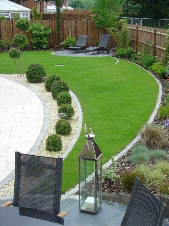 54 Peaceful Garden Designs Pour Backyard Et Front Yard In 2020 Backyard Garden Landscape Modern Garden Design Back Garden Design