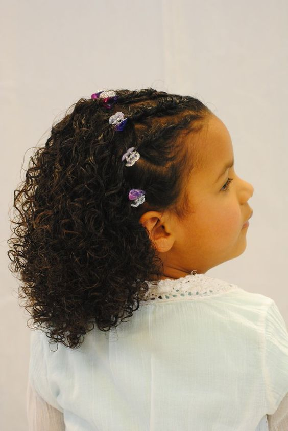 Styling For Little Girls With Very Curly Hair In 2019