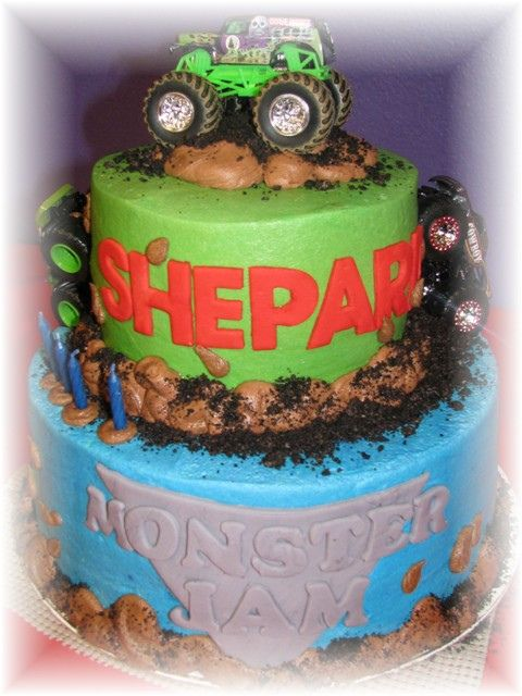 monster jam cake by oh boy baking co, via Flickr