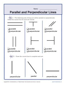 Printables Parallel And Perpendicular Lines Worksheet Answer Key perpendicular lines worksheet your student will determine which are and parallel in this worksheet
