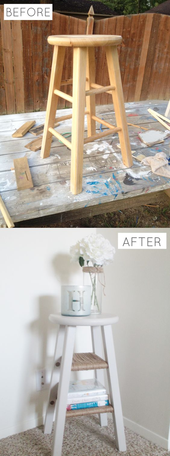 All Gumption And Grace Diy Barstool Nightstand Diy