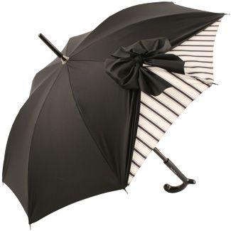 ♥•✿•♥•✿ڿڰۣ•♥•✿•♥  Drape Parasol in Black and Cream Stripe by Chantal Thomass  ♥•✿•♥•✿ڿڰۣ•♥•✿•♥