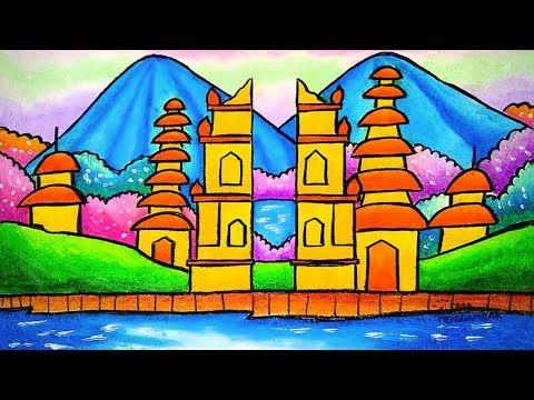 Cara Menggambar Tema Rumah Ibadah Agama Hindu Pura Ep 322 Youtube Di 2021 Cara Menggambar Sketsa Anime Krayon