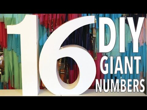 Diy Giant Numbers How To Large 3d Letters And Numbers Youtube Large Cardboard Letters Diy Letters Giant Letters