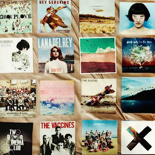 the image shows a mix of indie music ive used this because some of the artwork inspires me for my cover with the colours and the composition of people/objects also it is another range of music i would like to include