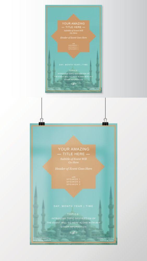 Islamic Geometric Flyer Template - geometric flyer template