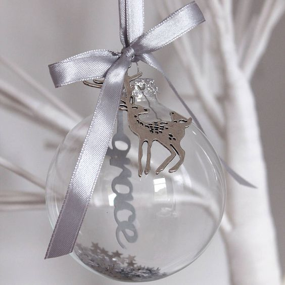 personalised papercut glass bauble by studio seed | notonthehighstreet.com