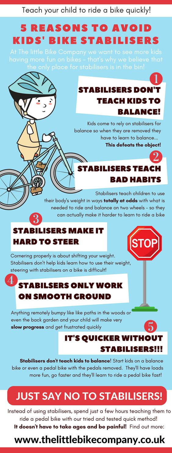 teach kids to ride bikes quickly by avoiding stabilisers