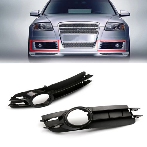 Front Lower Bumper Grille Fog Cover Plastic For Audi A6 C6 2005 2007 Audi Audi A6 Bumpers