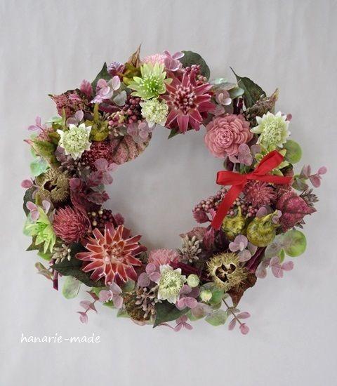 ハンドメイドマーケット minne(ミンネ)| autumn pink: wreath