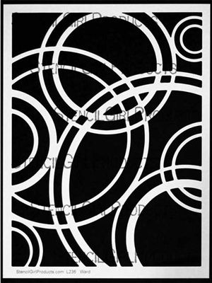Click here to purchase the Ripples stencil by Michelle Ward for StencilGirl Products. $14.00