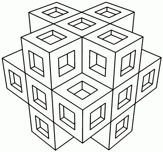 Cubicle coloring page - coloring.com