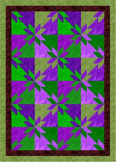 Hunters Square Quilt Pattern | myQuiltGenie Blog: Scrappy Hunters Star Quilt: