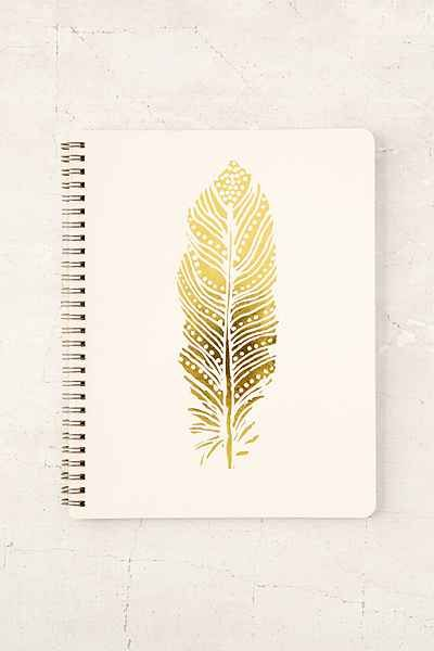 Feather Notebook - Urban Outfitters                                                                                                                                                                                 More
