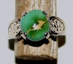 love this ring! Natural Turquoise from Nevada! Swoon...