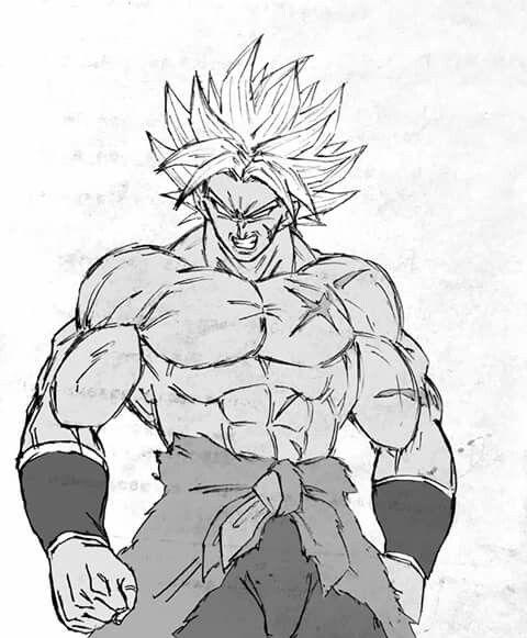 Broly Sketch : broly, sketch, Broly, Fanart, Dragon, Super, Movie, Artwork,, Anime, Super,
