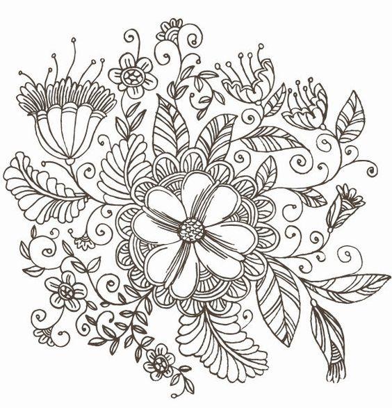Line Art Flower Design : Japanese design patterns line drawing swirl flower