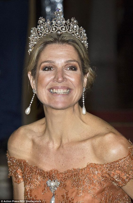 Slimline: The Netherlands' Queen Maxima arrives at theKoninklijk Paleis in Amsterdam last...