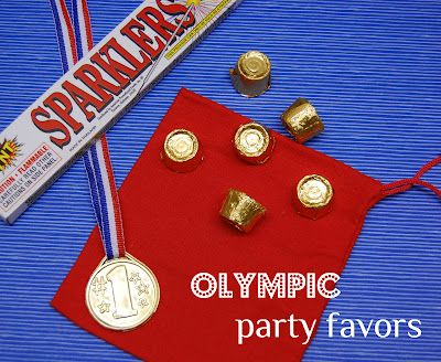 Love the favors of sparklers and multicultural flag pencils right before school starts!