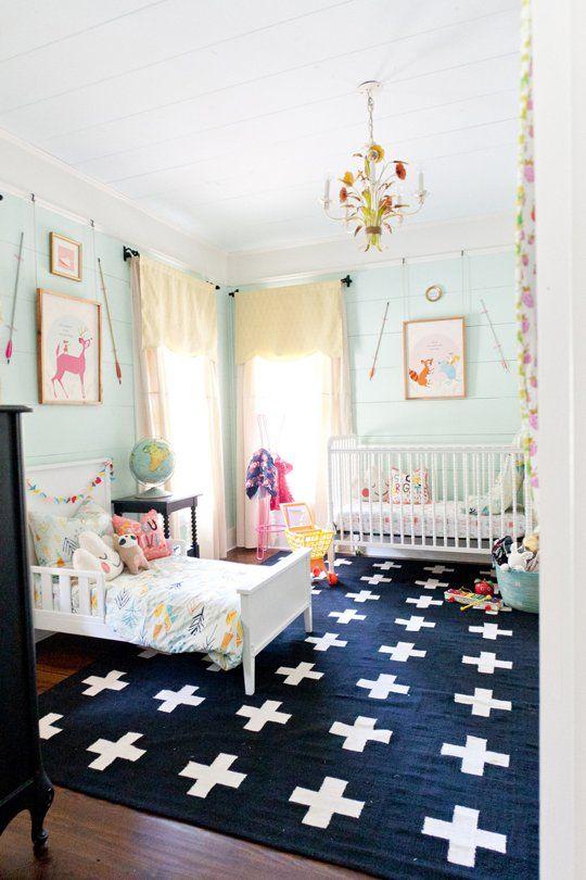 Una habitación compartida. De esas que te hacen sonreír #kids #decoracion