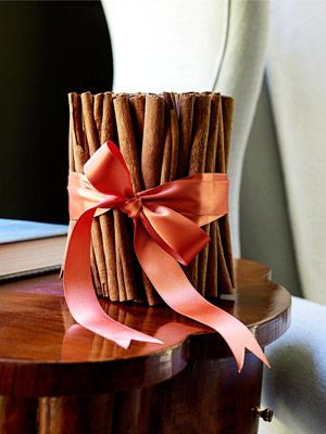 Tie a bunch of cinnamon sticks together with a pretty ribbon for a warm, welcoming aroma.
