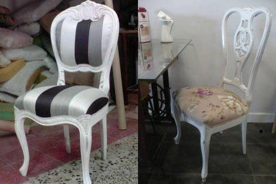 C mo restaurar y pintar de blanco una silla restaurar - Como tapizar sillas antiguas ...