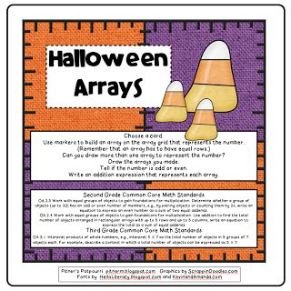 Here's a Halloween themed activity for working on array multiplication ...
