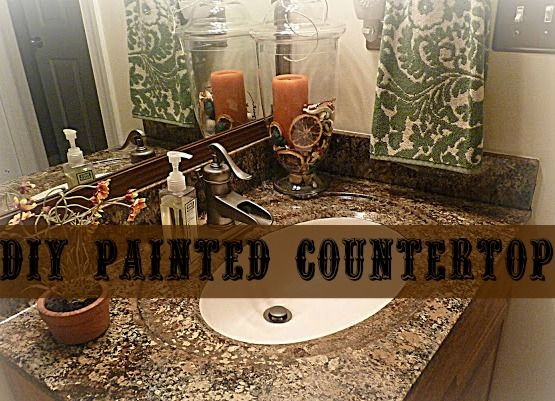 Countertop Paint Brown : to paint paint countertops countertop paint faux granite brown paint ...