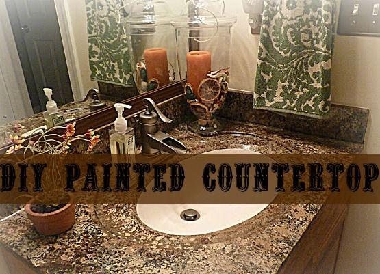 to paint paint countertops countertop paint faux granite brown paint ...