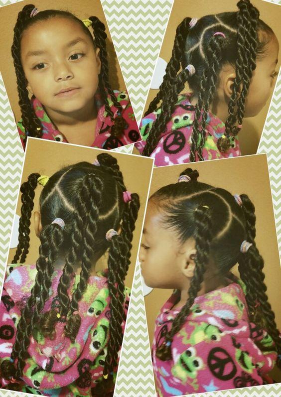 Swell Kid Hair Rope Braid And Black Girls On Pinterest Short Hairstyles Gunalazisus