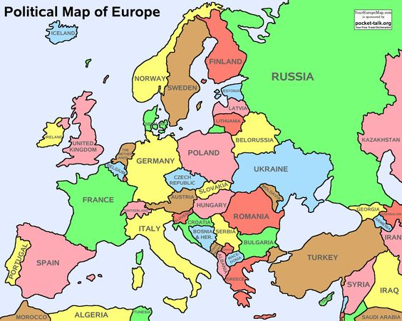 Geographically Europe is a subcontinent of the continent of – Map of Europe Continent