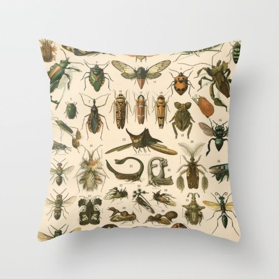 From the late 1800s.....  Wouldn't you like to sleep with bugs all over you?  You won't find shower curtains, totes, duvets, or pillows with these unusual rare images on them except here.....<br/> <br/> bugs, insects, vintage, nature, bees, wasps, cicadas
