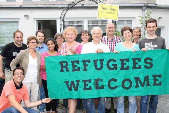 Refugees welcome! Herzlich willkommen schön dass ihr da seid!