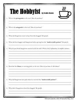 The hobbyist short story analysis essay