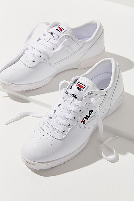 Fila FX 100 White Low Top Trainers | White sneakers, White