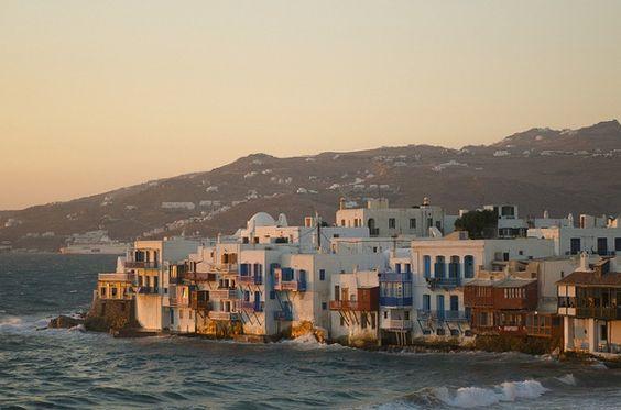 Mykonos via @thisisglamorous #greece #travel #beach #mykonos #vacation #summer #sand #europe #travel #sea #ocean #aegeansea #blue #white #architecture