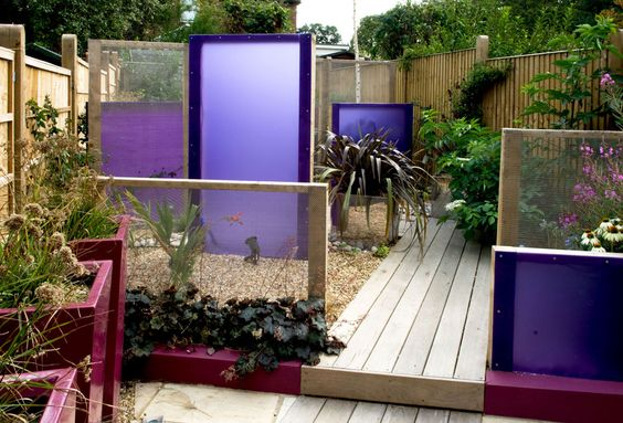 perspex screens modern garden design kent gardening pinterest