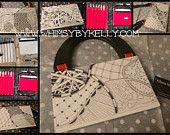 On the go travel bag. Ideal for tanglers! Comes with supplies! Custom made to order! #zentangle #zentangle inspired