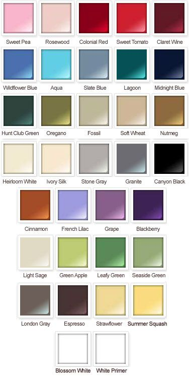 Rustoleum American Accents Satin Spray Paint Color Card Spray Paint My World Pinterest
