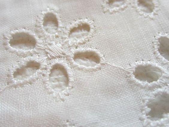 Broderie anglaise fabric wishlist pinterest vintage