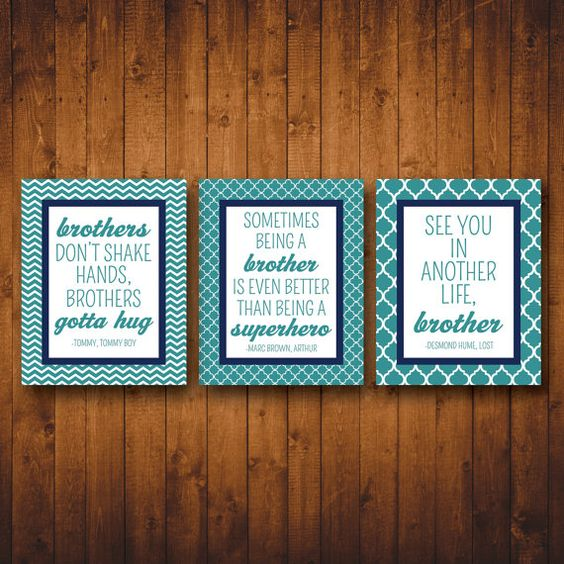 Quotes for Brothers sharing a room (8x10 printable wall art)